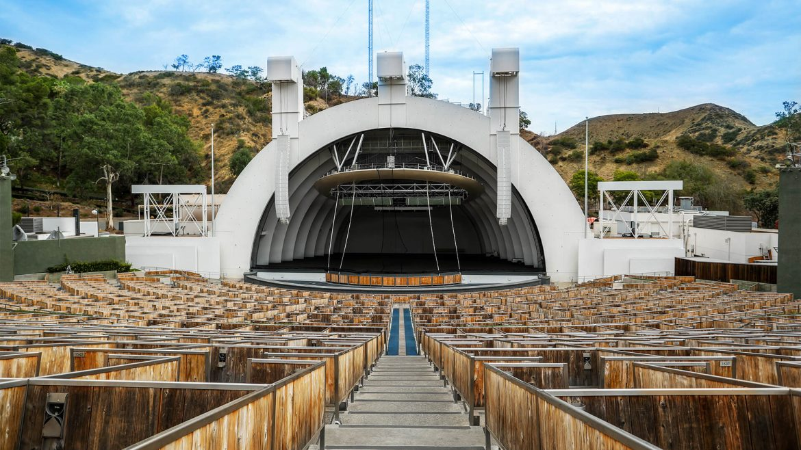 Image of the front of the Hollywood Bowl.