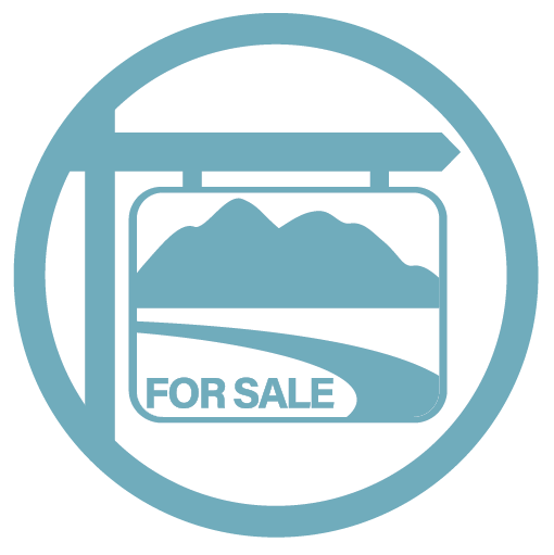 icon that looks like a for sale sign