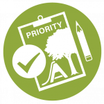 icon of a priority registration clipboard