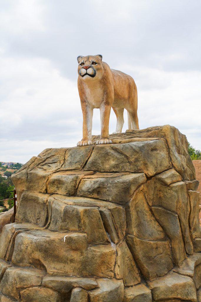 Agoura Hills Playground with a fake mountain lion