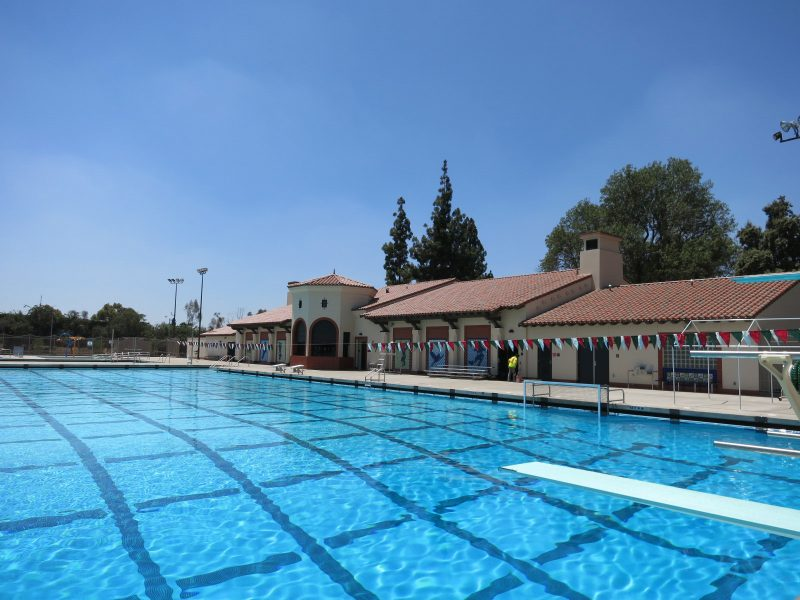 Image of Belvedere park's pool during the day