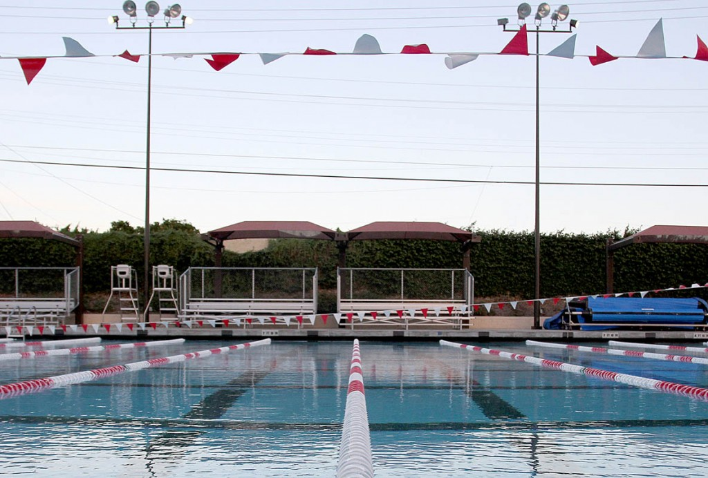 Side view of Belevedere parks pool.