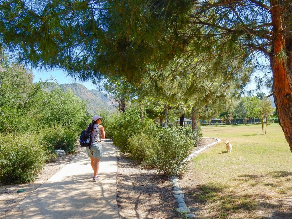 Image of Encanto Park Nature Walk trail with a person taking a picture