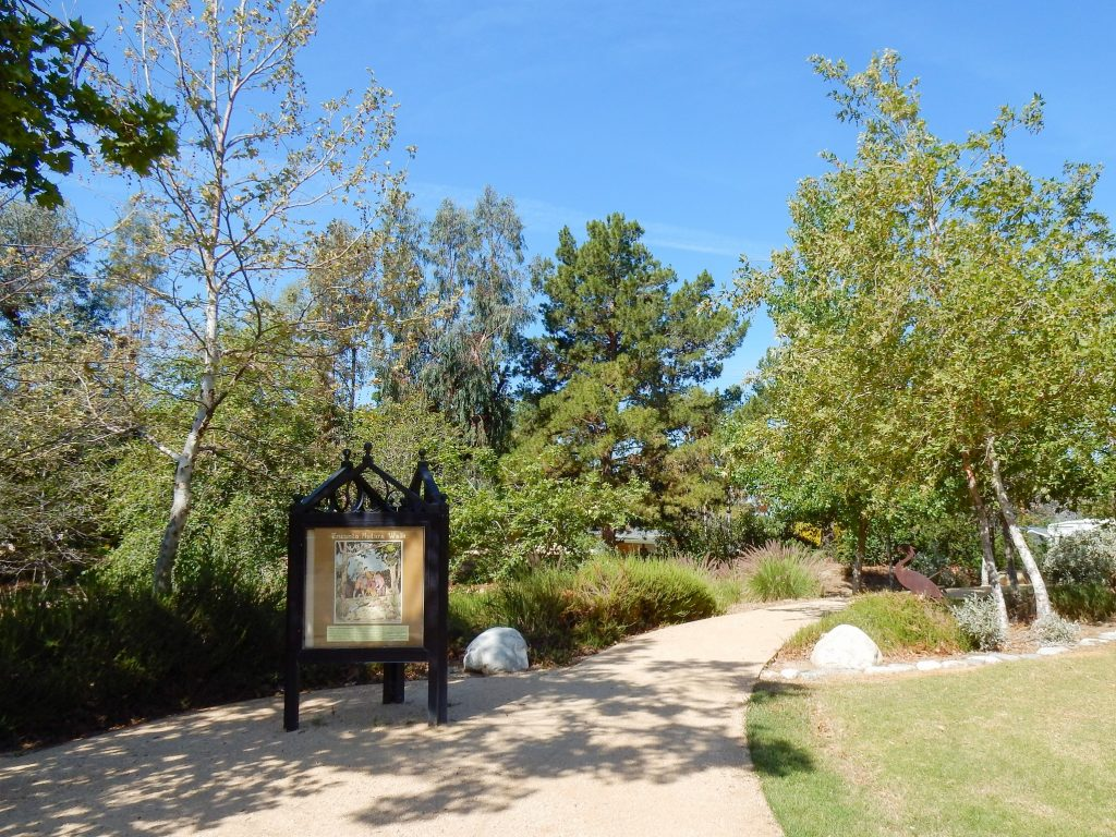 Image of Encanto Park Nature Walk trail information sign.