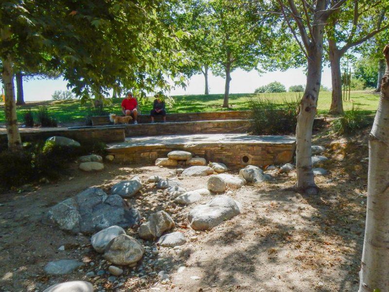 Image of Encanto Park Nature Walk trail with rocks