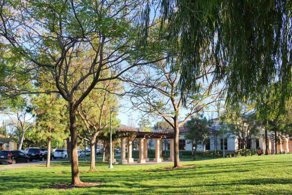 Image of the picnic tables at Glendale Central Park.